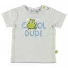 Babylook T-Shirt Korte Mouw Dude White