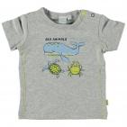 Babylook T-Shirt Korte Mouw Whale Grey