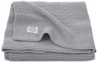 Jollein Deken Basic Knit Stone Grey 75 x 100 cm
