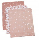Briljant Hydrofiele Washandjes Spots Grey Pink (3 stuks)