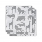 Jollein Hydrofiele Monddoekjes  Safari Stone Grey  (3 stuks)