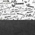 Little Lemonade Laken Quotes Black/White 75 x 100 cm