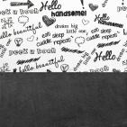 Little Lemonade Laken Quotes Black/White 75 x 100 cm