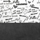 Little Lemonade Laken Quotes Black/White 120 x 150 cm