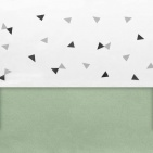 Little Lemonade Laken Triangle Grey/Black 120 x 150 cm