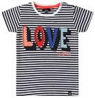 Beebielove T-Shirt Korte Mouw Love Stripes