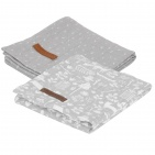 Little Dutch Swaddle 2Stuks Adventure Grey  70x70