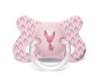 Suavinex Fopspeen Fusion Dog Pink 4-18mnd