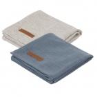 Little Dutch Swaddle 2Stuks Pure Blue/Grey  70x70