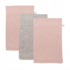 Little Dutch Washand 3Stuks Pure Pink/Grey/Pink
