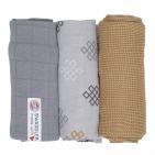 Lodger Swaddler Empire Donkey 70x70 3pack