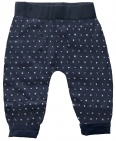 Born To Be Famous Broek Navy Print