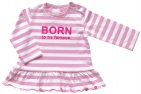 Born To Be Famous T-Shirt Ruffle Roze Stripe