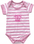 Born To Be Famous Romper Roze Stripe