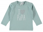 Babylook T-Shirt Papa Blue Surf