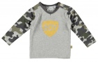 Babylook T-Shirt Boy Camou Grey