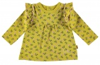 BESS T-Shirt Flowers Ocre