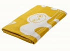 Briljant Wiegdeken Jungle Dusk Yellow75 x 100 cm