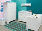 Bopita Ledikant 60-120 / Commode 3 Laden 1 Deur Cobi White