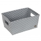 Handed By Bibbona Open Basket Flint Grey