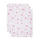 BD Collection Hydrofiele Washandjes Don Wit/Roze (3 stuks)